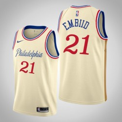2019-20 76ers Joel Embiid & 21 Creme City Jersey