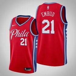 2019-20 76ers Joel Embiid & 21 Red Jersey - Erklärung