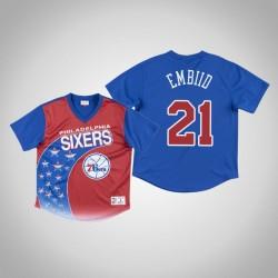 Philadelphia 76ers Joel Embiid & 21 Royal Game Winning Shot T-Shirt