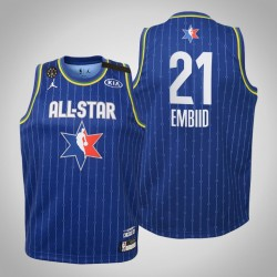 Jugend Philadelphia 76ers Joel Embiid & 21 Blue 2020 NBA All-Star Game Jersey