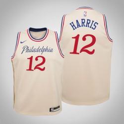 Jugend Tobias Harris 76ers & 12 Stadt Creme 2020 Jahreszeit Jersey