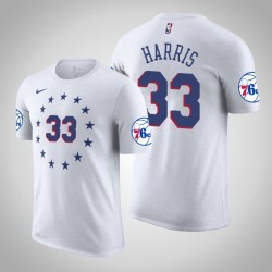 Herren Tobias Harris Philadelphia 76ers & 33 verdient Weiß Name & Nummer T-Shirt
