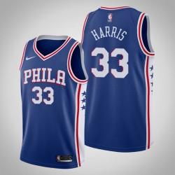 Männer NBA 2018-19 Tobias Harris Philadelphia 76ers & 33 Icon Edition Blue Jersey
