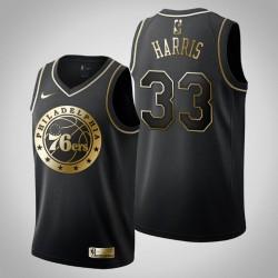 Philadelphia 76ers Tobias Harris & 33 Schwarz Jersey - Golden Edition