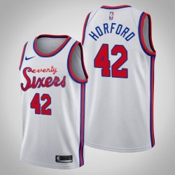 76ers 2019-20 Al Horford & 42 weißes Holz Classics Jersey