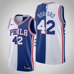 Männer Philadelphia 76ers Al Horford & 42 Weiß Königs Split Jersey