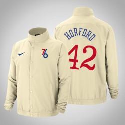Männer Al Horford Philadelphia 76ers & 42 Creme Stadt DNA Leichte Jacke