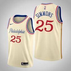 2019-20 76ers Ben Simmons & 25 Creme City Jersey