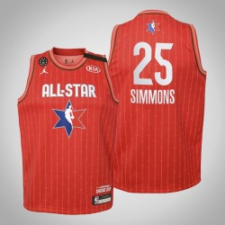 Jugend Philadelphia 76ers Ben Simmons & 25 Red 2020 NBA All-Star Game Jersey