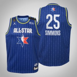 Jugend Philadelphia 76ers Ben Simmons & 25 Blau 2020 NBA All-Star Game Jersey