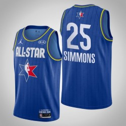 Philadelphia 76ers Ben Simmons & 25 2020 NBA All-Star Game Reserves Blau Jersey