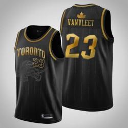 Toronto Raptors Fred Vanvleet & 23 Black Holz Classics Swingman Golden Edition Jersey