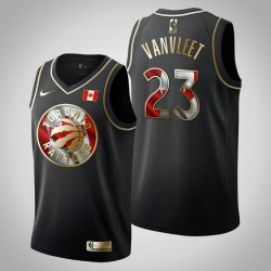 Männer Toronto Raptors & 23 Fred Vanvleet Kanada Day Golden Edition Black Swingman Jersey