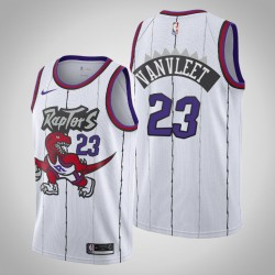 Raptors 2019-20 Fred Vanvleet & 23 White Throwback Jersey