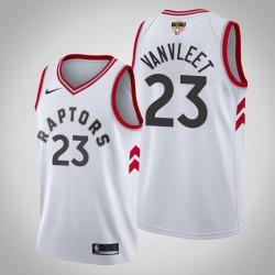 Männer Toronto Raptors Fred Vanvleet & 23 White 2019 NBA Finals Vereinigung Jersey