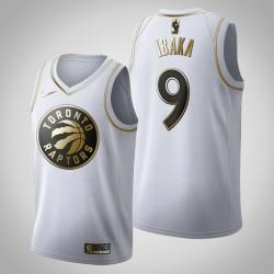 Toronto Raptors Serge Ibaka & 9 Golden Edition Weiß Jersey