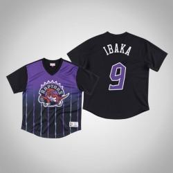 Toronto Raptors Serge Ibaka & 9 Lila Spiel gewinnen Schuss T-Shirt