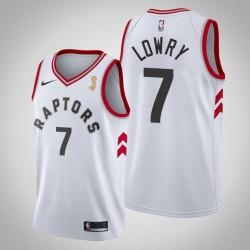 Toronto Raptors Kyle Lowry & 7 White 2019 NBA Finals Champion Jersey - Verband