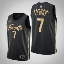 2019-20 Raptors Kyle Lowry & 7 Black City Jersey