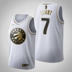 Toronto Raptors Kyle Lowry & 7 Golden Edition Weiß Jersey