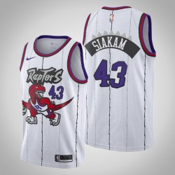Raptors 2019-20 Pascal Siakam & 43 Weiß Throwback Jersey