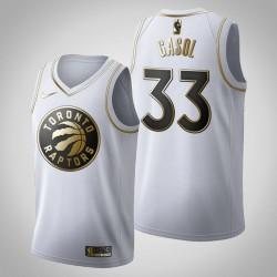 Toronto Raptors Marc Gasol & 33 Golden Edition Weiß Jersey