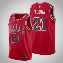 Männer Chicago Bulls Thaddeus Young & 21 Red Icon Jersey