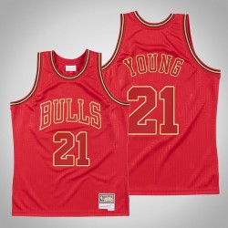 Chicago Bulls Thaddeus Young & 21 Red 2020 CNY Swingman Mitchell & Ness Throwback Jersey