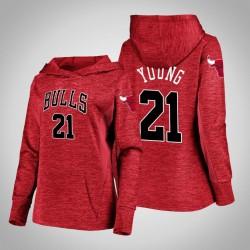 Frauen Bulls Thaddeus Junge Red 2020 Saison Showtime Geschehen besser PulloverHoodie