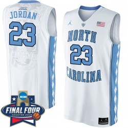 Michael Jordan 2016 NCAA North Carolina Tar Heels # 23 Weiß Basketball Trikot