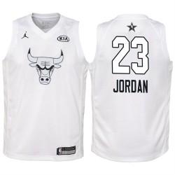 2018 All-Star Jugend Bulls Michael Jordan # 23 Weiß Trikot