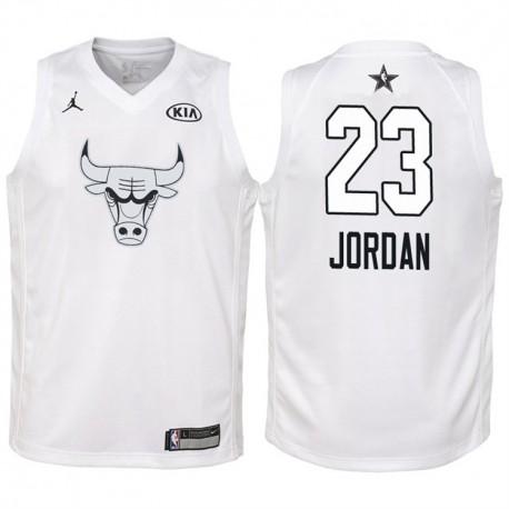 2018 All-Star Jugend Bulls Michael Jordan & 23 White Jersey