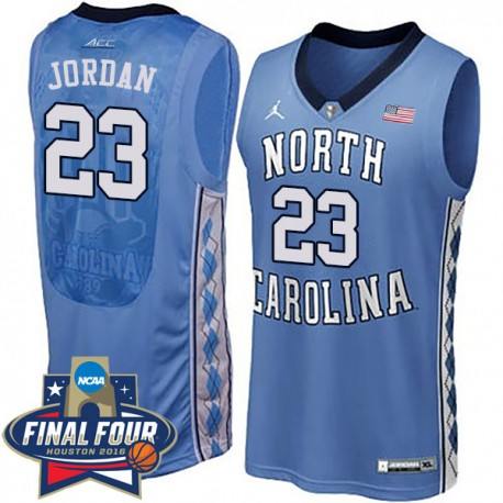 Michael Jordan 2016 NCAA North Carolina Tar Heels & 23 Blue Basketball Jersey