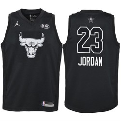 2018 All-Star Jugend Bulls Michael Jordan # 23 Black Trikot
