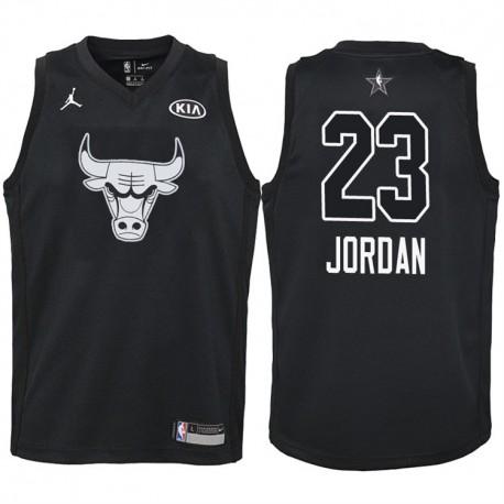 2018 All-Star Jugend Bulls Michael Jordan & 23 Black Jersey