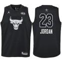 2018 All-Star Jugend Bulls Michael Jordan # 23 Black Trikot