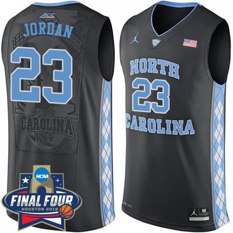 Michael Jordan 2016 NCAA North Carolina Tar Heels & 23 Black Basketball Jersey