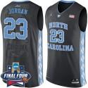 Michael Jordan 2016 NCAA North Carolina Tar Heels # 23 Black Basketball Trikot