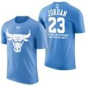 Herren Michael Jordan Chicago Bulls # 23 Vatertags-Blau-T-Shirt mit der Nachricht
