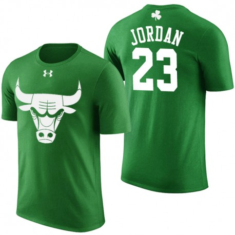 Herren Michael Jordan Chicago Bulls & 23 St. Patrick Tagesgrün-T-Shirt