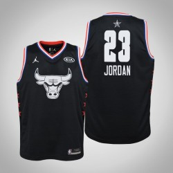 2019 NBA All-Star Jugend Chicago Bulls Michael Jordan # 23 Black Swingman Trikot