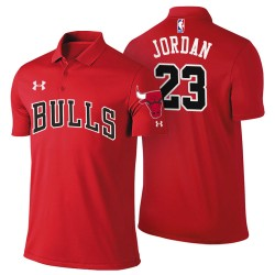 Herren Michael Jordan Chicago Bulls # 23 Icon Ausgabe Red Spieler Performance Polo