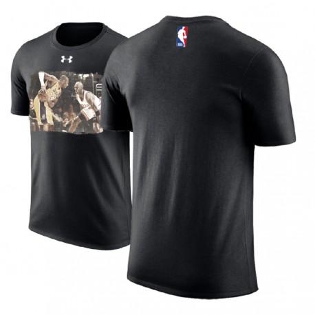 Männer Kobe Bryant Los Angeles Lakers vs Schwarz Michael Jordan Wenn No.23 Treffen No.24 Performance-T-Shirt