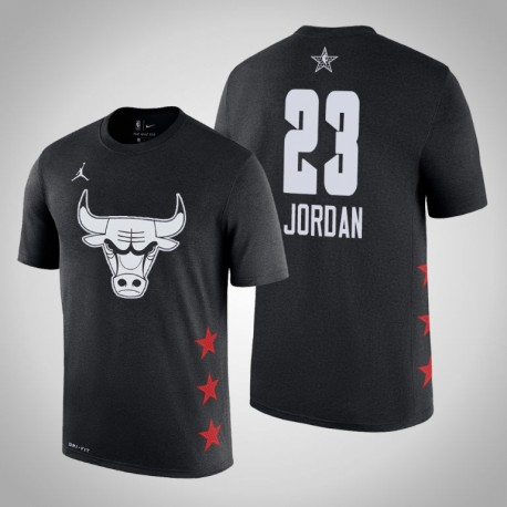 2019 NBA All-Star Game Männer Chicago Bulls Michael Jordan & 23 Black T-Shirt