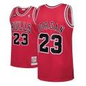 Herren Michael Jordan Bulls # 23 1998 Finals Holz Classics Red Swingman Trikot