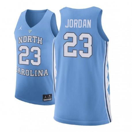 Michael Jordan Männer NCAA North Carolina Tar Heels & 23 Blue Basketball Performance-Jersey