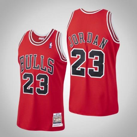 Herren Bulls Michael Jordan & 23 Red 1997-1998 Holz Classics authentisches Jersey