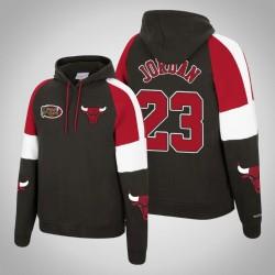 Bulls & 23 Michael Jordan Holz Classics Instant Replay Pullover SchwarzesHoodie
