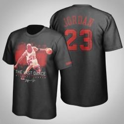 Bulls Michael Jordan & 23 Das letzte Tanz Meisterwerk T-Shirt Schwarz