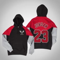Bulls & 23 Michael Jordan Handelsblock Pullover SchwarzesHoodie